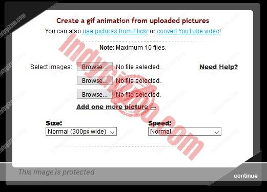 gickr online gif creator user interface
